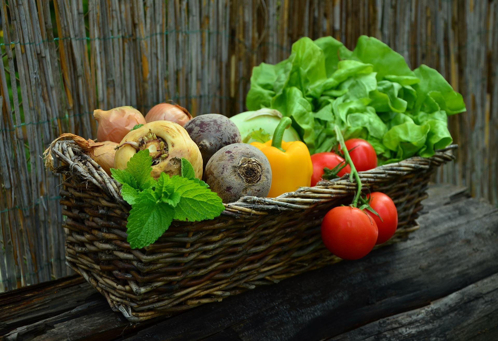 zeleninový košík
